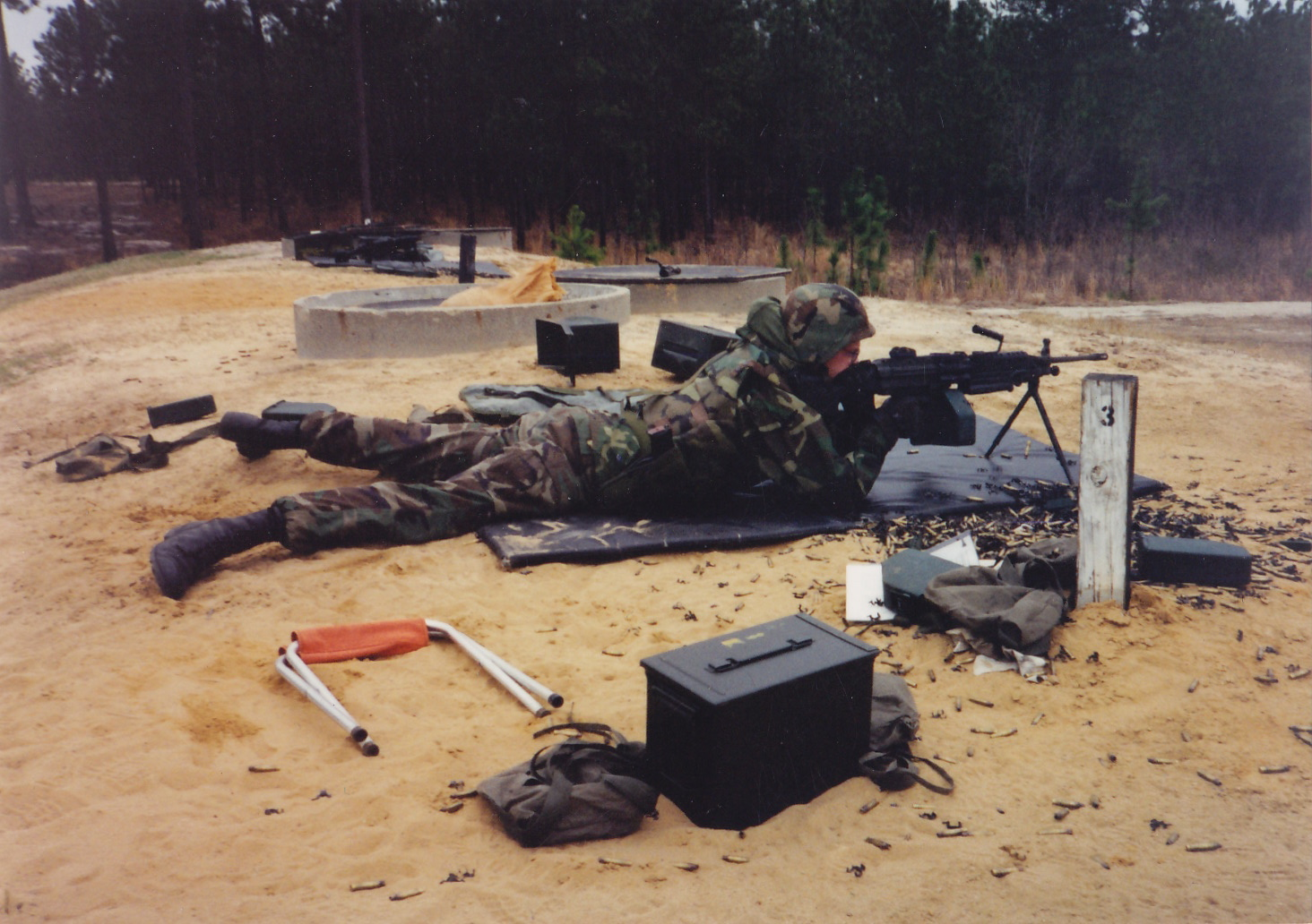 M249 SAW training, Fort Bragg 1998