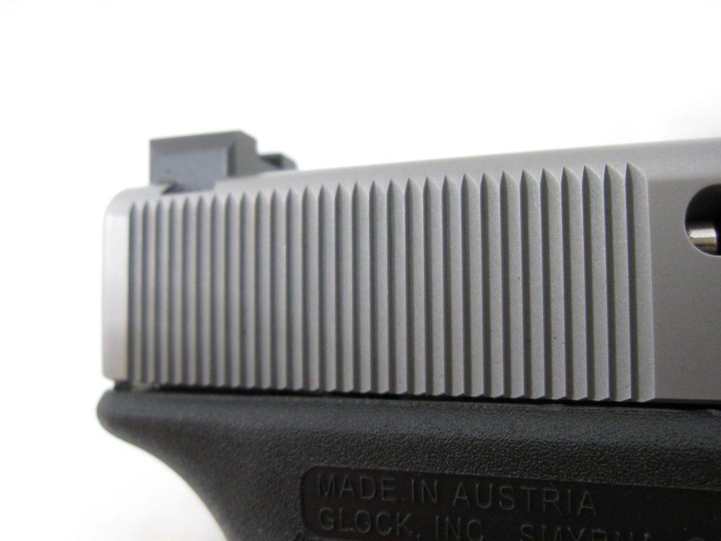 Cocking serrations on MA Glock 19 slide