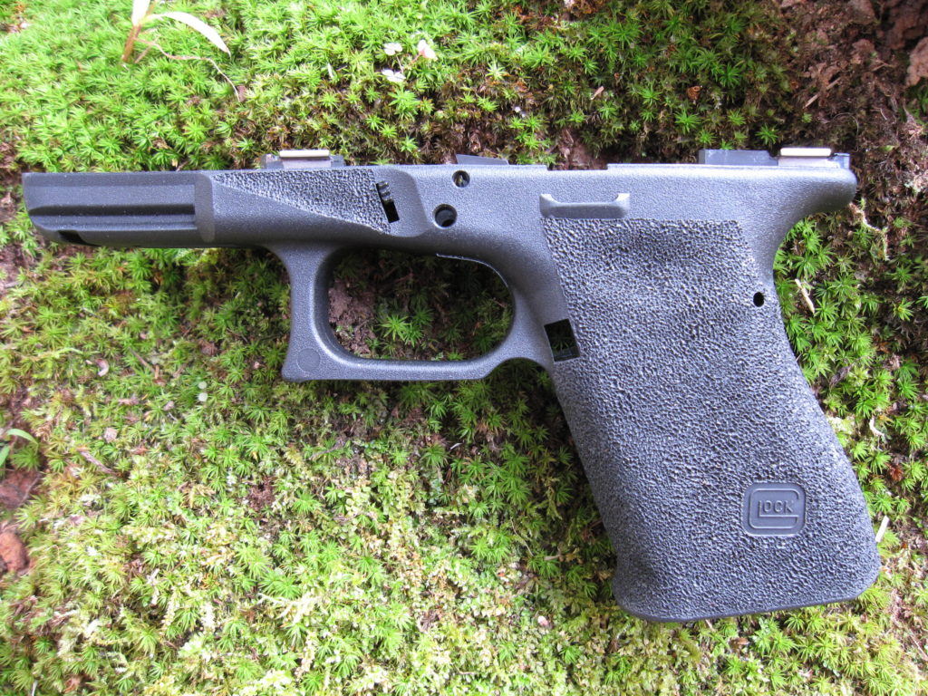 Type 1 stippling on Glock 19 frame