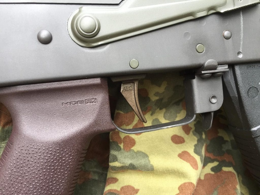 ALG Defense trigger with Burnt Bronze moly