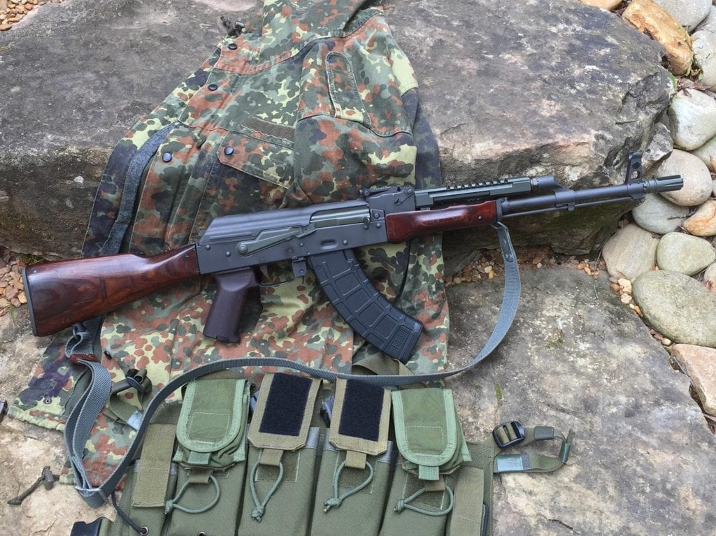 OD green and Burnt Bronze accents on Polish AKM